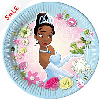 Disney Store Tiana 8x Party Plates Set, The Princess and the Frog