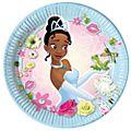 Set platos fiesta Tiana, Tiana y el Sapo (8 u.), Disney Store