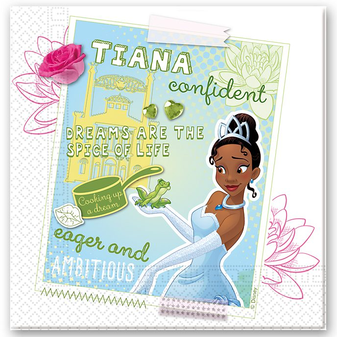 Pack servilletas fiesta Tiana, Tiana y el Sapo (20 u.), Disney Store