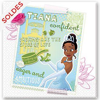Disney Store Paquet de 20 serviettes de fête Tiana, La Princesse et La Grenouille