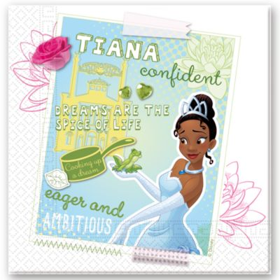 Pack servilletas fiesta Tiana, Tiana y el Sapo (20 u.)