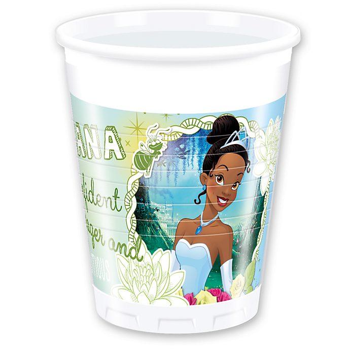 Disney Store Ensemble de 8 gobeletsde fête Tiana, La Princesse et la Grenouille