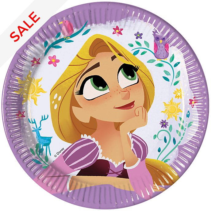 Disney Store Rapunzel 8x Party Plates Set, Tangled: The Series