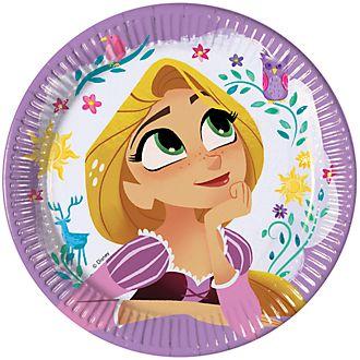 Disney Store – Rapunzel – Neu verföhnt, die Serie – Rapunzel, 8 x Partyteller