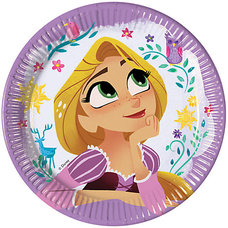 Set platos fiesta Rapunzel, Enredados: la serie (8 u.)