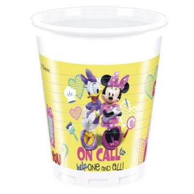 Set 8 vasos fiesta, Minnie Mouse