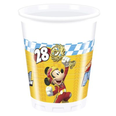 Set 8 vasos fiesta, Mickey y los Superpilotos