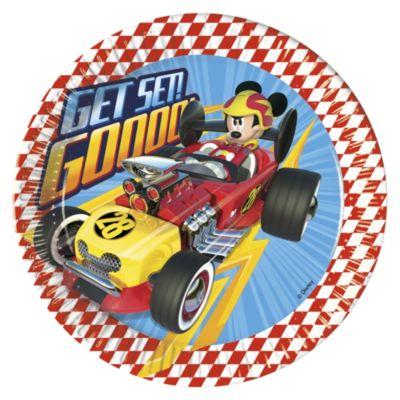 Mickey and the Roadster Racers, 8 piatti di carta