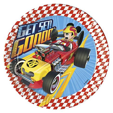 Mickey og Racerholdet festtallerkener, sæt med 8 stk.