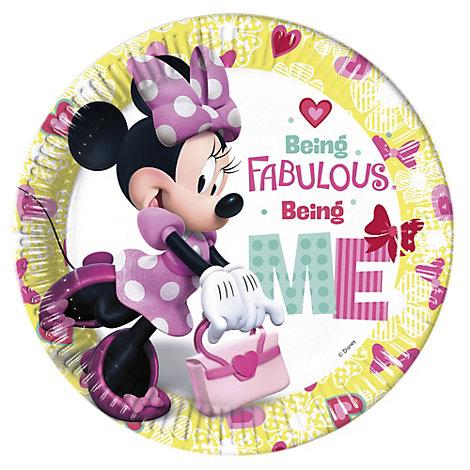 Minnie Mouse festtallerkener, sæt med 8 stk.