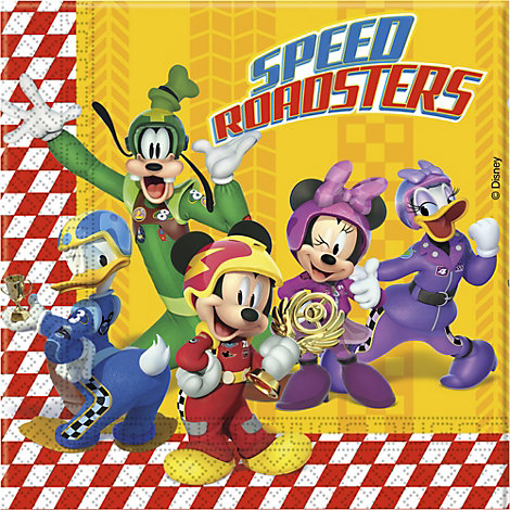 Mickey and the Roadster Racers 20x Party Napkin Pack
