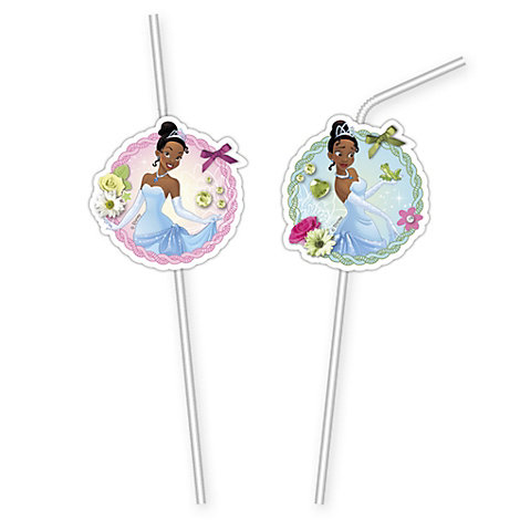 Tiana x6 Bendy Straws, The Princess and the Frog