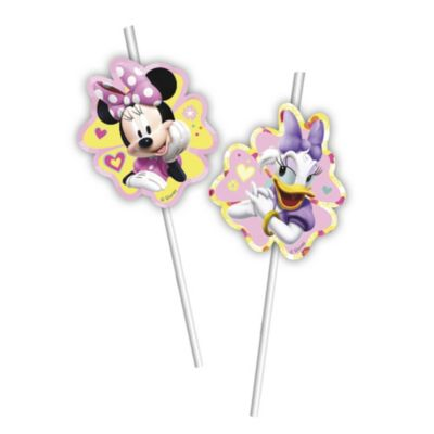 Minnie Mouse x6 Bendy Straws