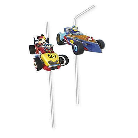 Mickey og Racerholdet bøjelige sugerør, pakke med 6 stk.