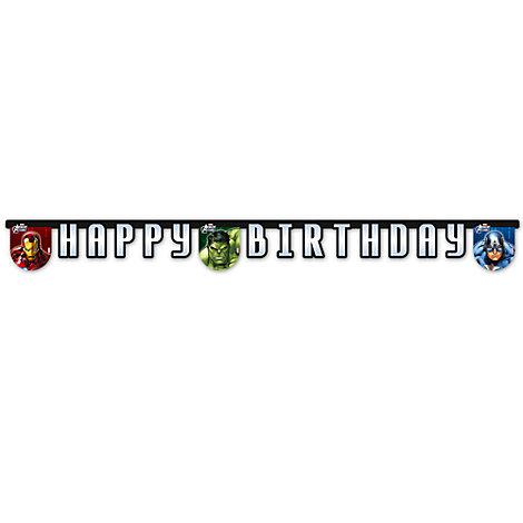 Avengers Happy Birthday Banner