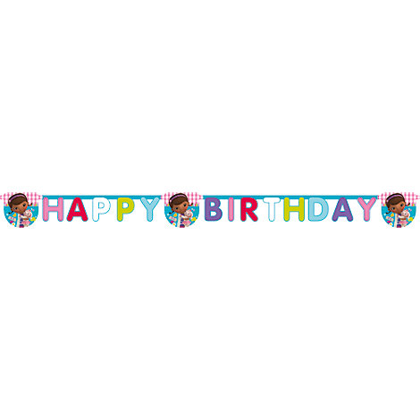 Dottoressa Peluche, festone Happy Birthday