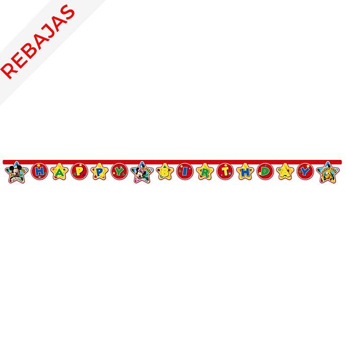 Cartel feliz cumpleaños de Mickey Mouse