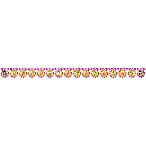 Cartel feliz cumpleaños de Minnie