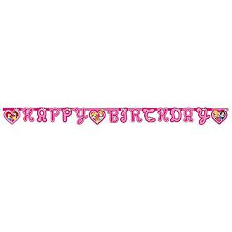Cartel feliz cumpleaños de princesa Disney