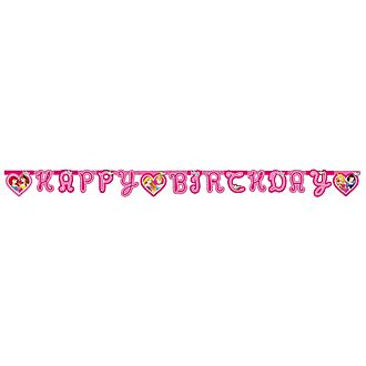 Principesse Disney, festone Happy Birthday