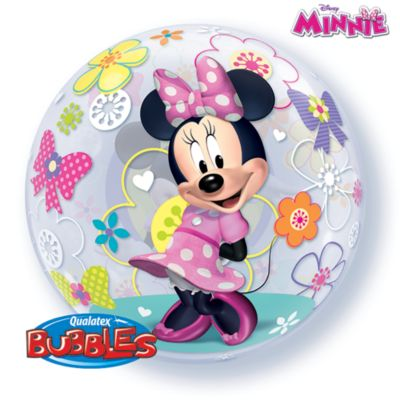 Minnie Maus - Ballon in Seifenblasenoptik