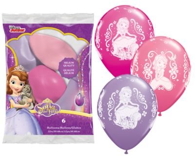 Lot de 6 ballons Princesse Sofia