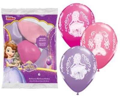 Sofia die Erste - 6 x Luftballons