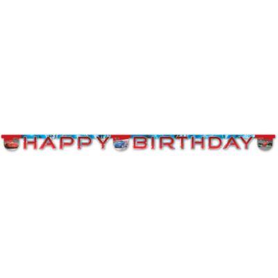 Disney Pixar Cars Happy Birthday Banner