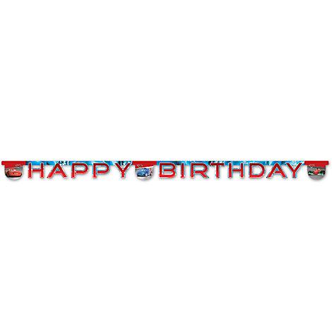 Cartel feliz cumpleaños de Disney Pixar Cars