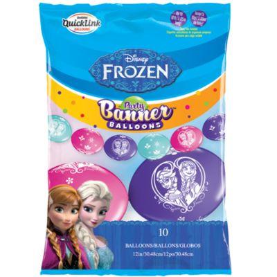 Cartel fiesta globos, Frozen