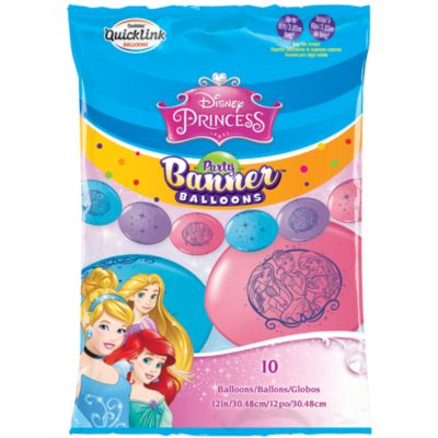 Disney Princess Party Balloon Banner