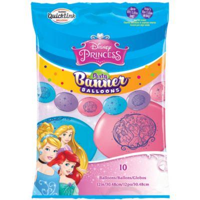 Cartel fiesta globos princesa Disney