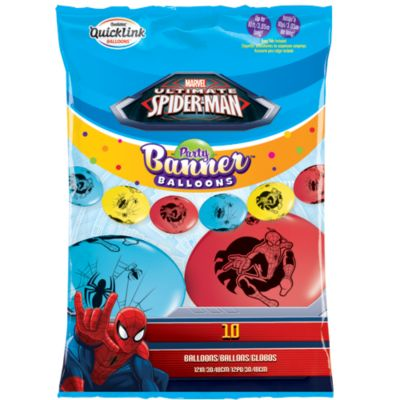 Spider-Man festbanner med balloner