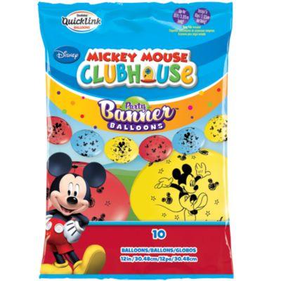 Cartel fiesta globos Mickey