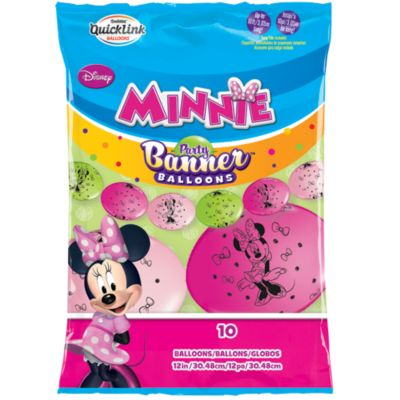 Minnie Mouse festbanner med balloner