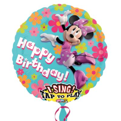 Minnie Mouse Singing Balloon