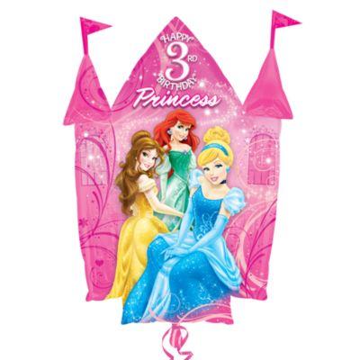 Ballon château 3ème anniversaire Princesses Disney