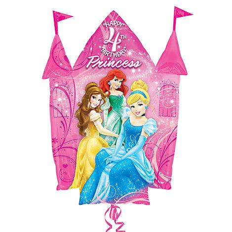 Disney Prinsessor slottsballong för 4-årsdagen