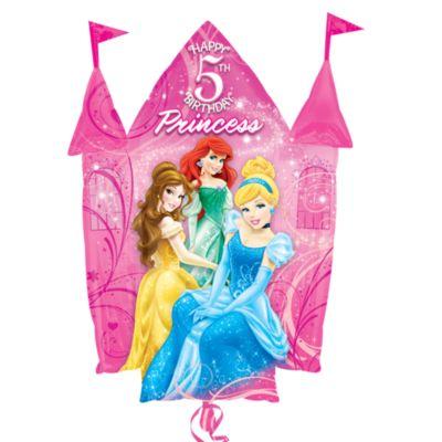Ballon château Princesses Disney 5ème anniversaire