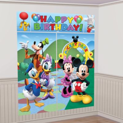 Mickey Mouse bagtæppe til festen