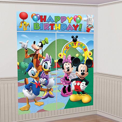 Decorado mural fiesta Mickey Mouse