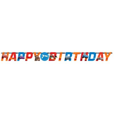Disney Pixar Cars Personalised Birthday Banner