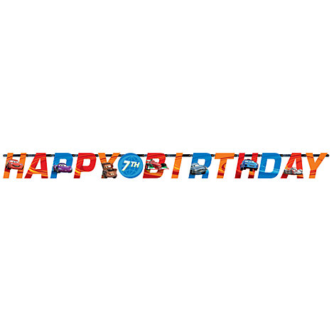 Disney Pixar Cars, festone Happy birthday personalizzato