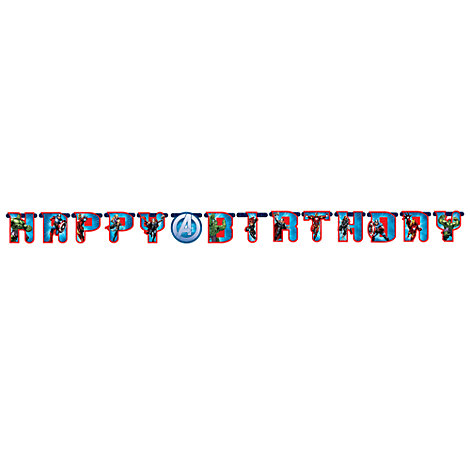 Avengers, festone Happy birthday personalizzato