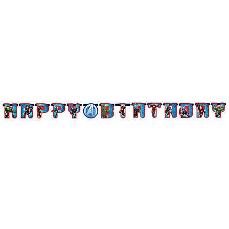 Avengers, festone Happy birthday personalizzato