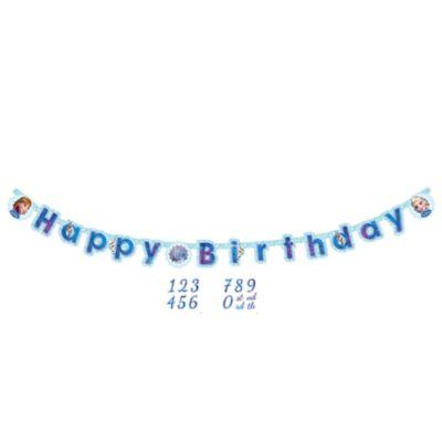 Frozen – Il Regno di Ghiaccio, festone Happy birthday personalizzato