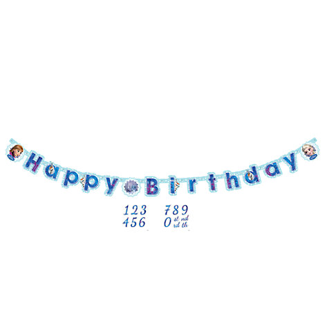 Frozen Personalised Birthday Banner