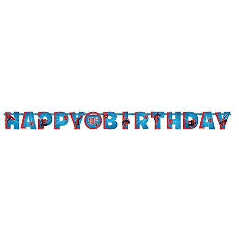 Uomo Ragno, festone Happy birthday personalizzato
