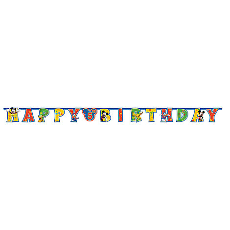 Mickey Mouse Personalised Birthday Banner