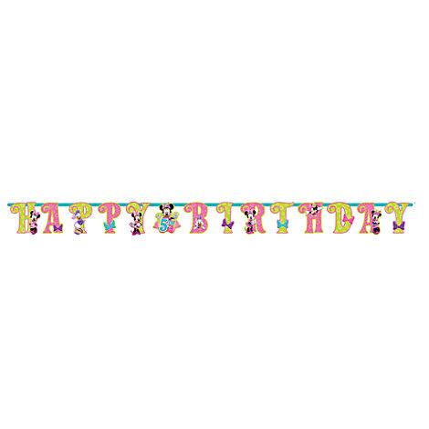 Minnie Mouse fødselsdagsbanner, kan personliggøres